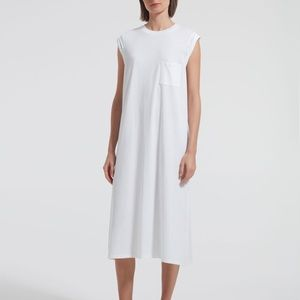 ATM HIGH TORSION ROLLED CUFF DRESS